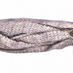 Бял кашмирен шнур ретина Menoni 5 мм (50см)