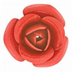Червена декоративна роза 30 мм (1бр)