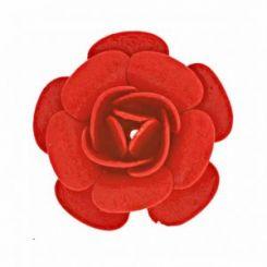 Червена декоративна роза 20 мм (2бр)
