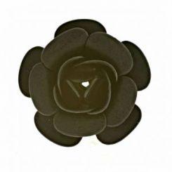 Черна декоративна роза 20 мм (2бр)