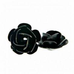 Черна декоративна роза 8 мм (4бр)