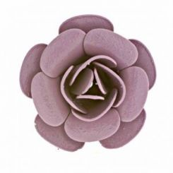 Декоративна роза в лила 20 мм (2бр)