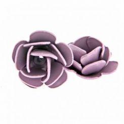 Декоративна роза в лила 8 мм (4бр)