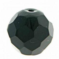 Чешки кристал - фасетирано мънисто оникс  8мм (20бр)