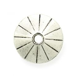 Кръгло метално мънисто Бали 6x10 mm (4бр)