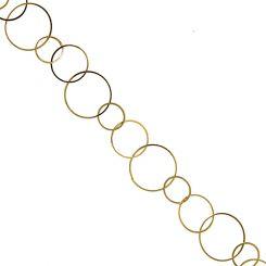Позлатена метална верижка, 25мм (50см)