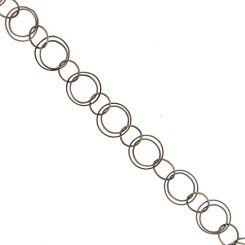 Помеднена метална верижка, 22 мм (50см)