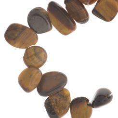 Полускъпоценни камъни - мънисто от тигрово око 6-10х8-12мм (10см)