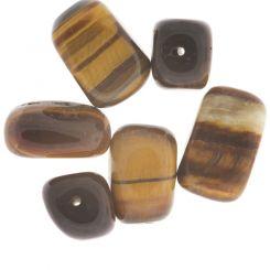 Полускъпоценни камъни - мънисто от тигрово око 10-12х14-20мм (6бр)