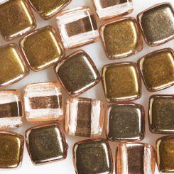 Чешки мъниста Tiles 6мм злато Appolo (28 бр)
