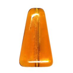 Чешки мъниста - трапец, топаз 16х9х5мм (4бр)