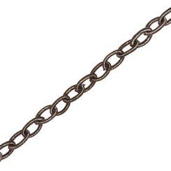 Текстилна верижка от коприна - черен диамант 12 мм (90см)