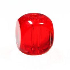 Чешки мъниста - заоблени кубчета, сиам 7х7мм (10бр)