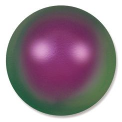 Сваровски перли монетки - преливащо пурпурна 12х8мм (2бр)