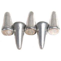 Чешки мъниста - Spike, сребро 4х10мм (5 бр)